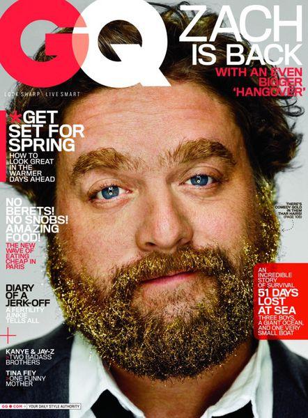 Зак Галифианакис в журнале GQ. Май 2011