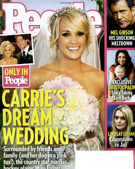 Фото свадьбы Кэрри Андервуд из журнала People
