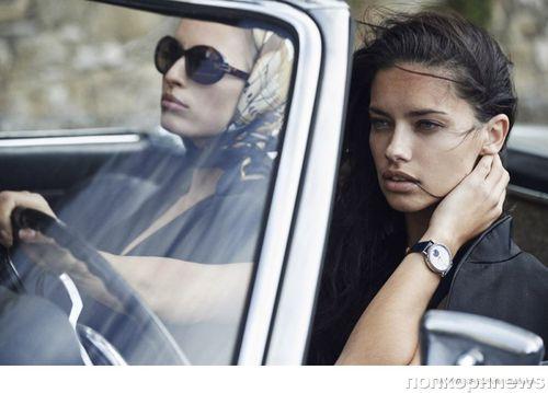 Адриана Лима и Каролина Куркова в рекламе часов IWC
