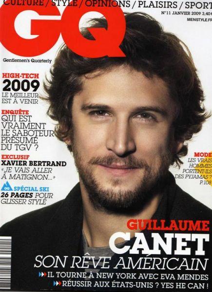 Гийом Кане в журнале GQ. Январь 2009. Франция