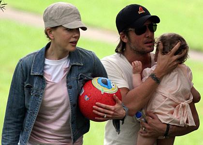 Николь Кидман с семьей в зоопарке