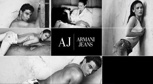 Меган Фокс и Рафаэль Надаль на съемках рекламы Armani Jeans