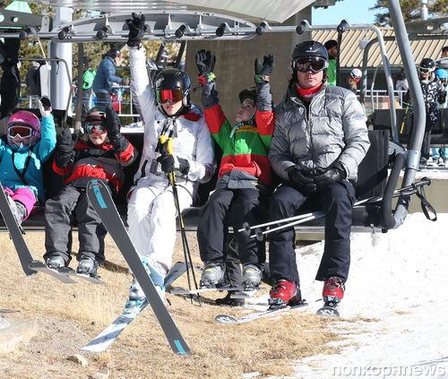 Гвен Стефани и Гэвин Россдейл на горнолыжном курорте
