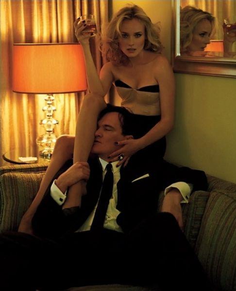 Дайан Крюгер и Квентин Тарантино в журнале T Style Women Лето 2009