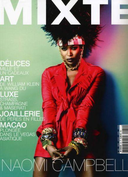 Наоми Кэмпбелл в журнале Mixte. Декабрь 2008 - Январь 2009