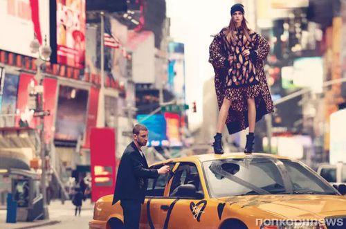 Кара Делевинь в рекламной кампании DKNY. Осень / зима 2013