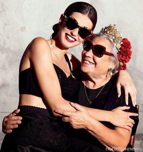 Бьянка Балти в новой рекламной кампании Dolce & Gabbana Eyewear. Весна / лето 2015