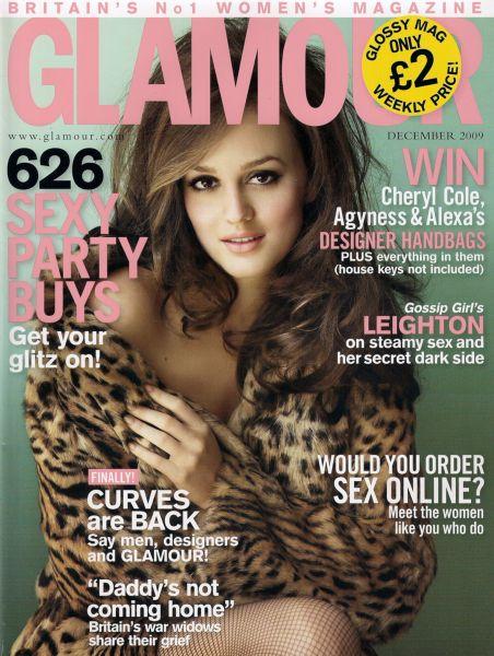 Лейтон Мистер в журнале Glamour UK. Декабрь 2009