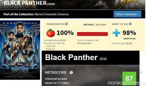 «Это шедевр»: отзывы критиков на «Черную пантеру» появились на Rotten Tomatoes