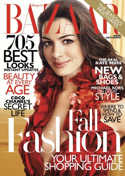 Энн Хэтэуэй в журнале Harper's Bazaar. Август 2011