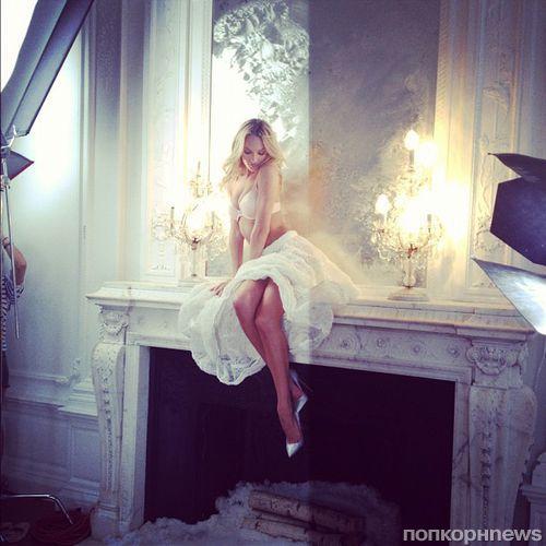 Кэндис Свэйнпоул на фотосессии для Victoria's Secret