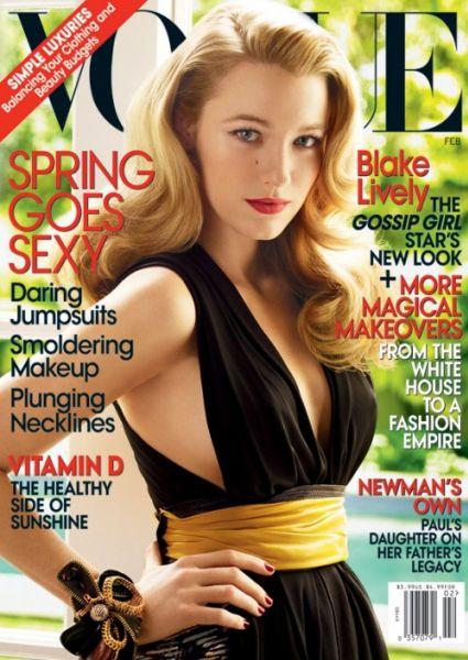 Блэйк Лайвли в журнале Vogue. Февраль 2009