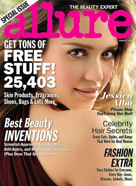 Джессика Альба в журнале Allure. Август 2011