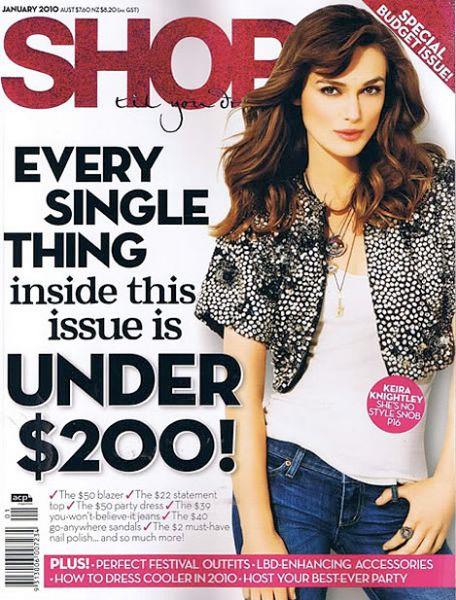 Кира Найтли в журнале Shop Til You Drop. Январь 2010