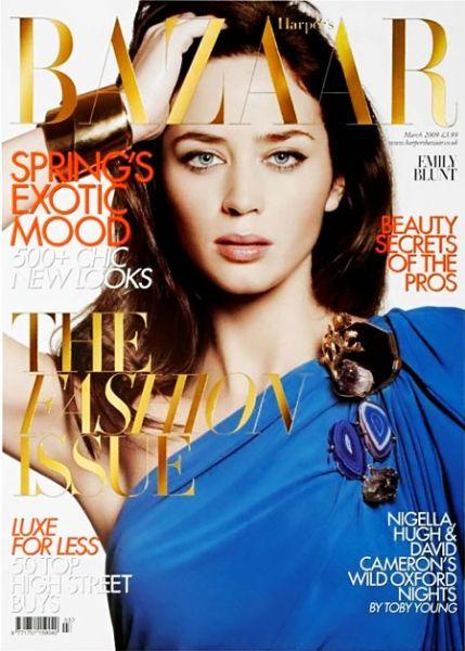Эмили Блант в журнале Harper's Bazaar. Великобритания. Март 2009