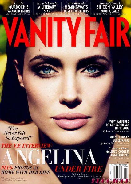 Анджелина Джоли в журнале Vanity Fair. Октябрь 2011