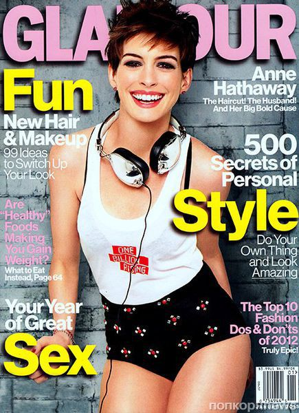 Энн Хэтэуэй в журнале Glamour. Январь 2012