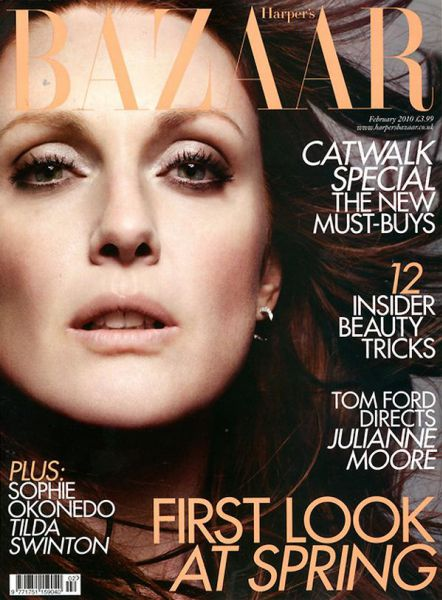 Джулианн Мур в журнале Harper's Bazaar UK. Февраль 2010