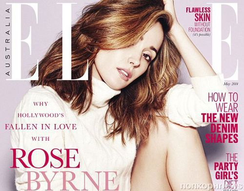 Роуз Бирн в журнале Elle. Авсралия. Май 2014