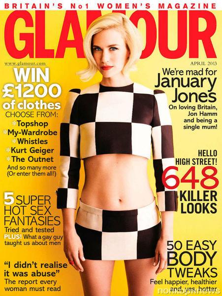 Дженьюари Джонс в журнале Glamour Великобритания. Апрель 2013