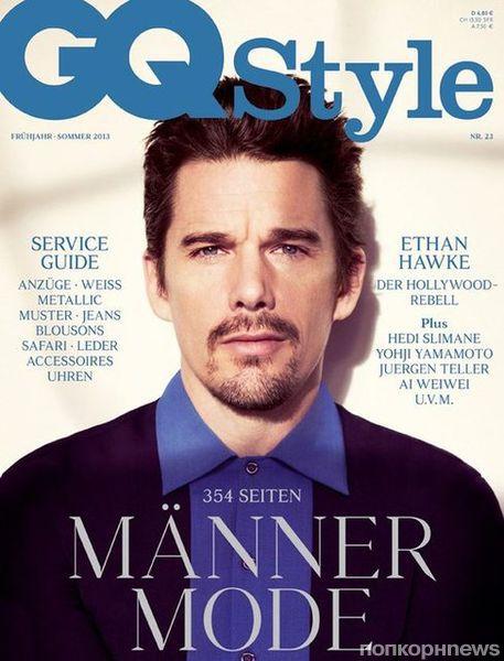 Итан Хоук в журнале GQ Style. Германия.