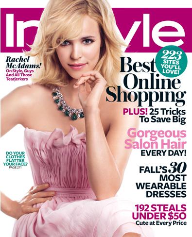 Рэйчел МакАдамс на обложке журнала InStyle