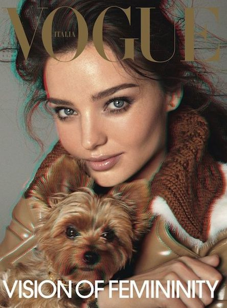Миранда Керр в журнале Vogue Italia в 3D. Сентябрь 2010
