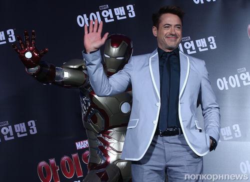 """Пресс-конференция фильма """"Железный человек 3"""" в Сеуле"""