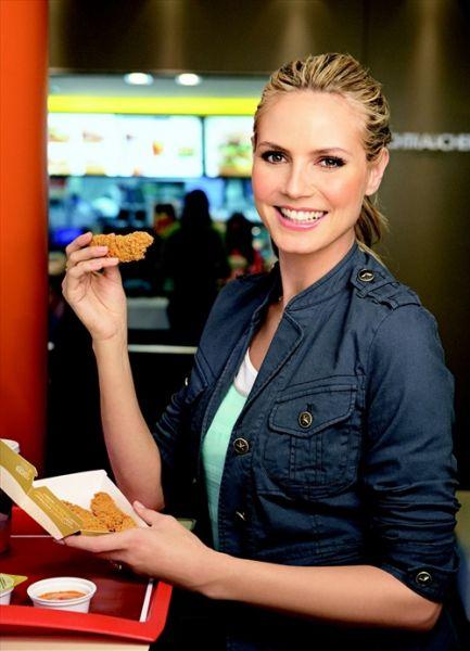 Хайди Клум в рекламе McDonalds