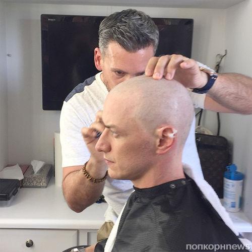 Джеймс МакЭвой побрился наголо для роли в «Люди Икс: Апокалипсис»
