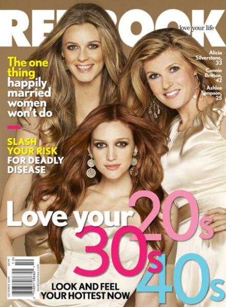 Эшли Симпсон, Алисия Сильверстоун и Конни Бритон в журнале Redbook. Октябрь 2009