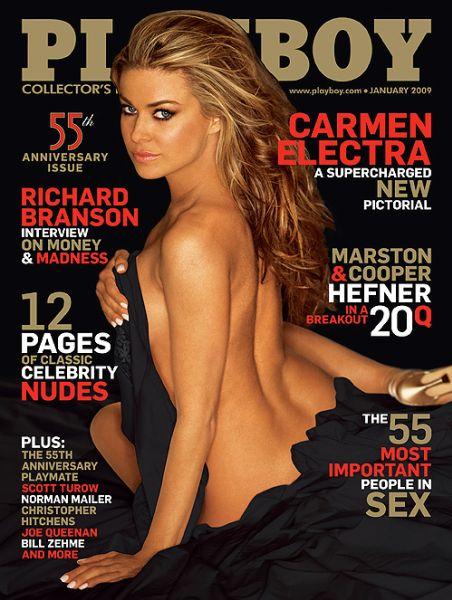 Кармен Электра в журнале Playboy. Январь 2009
