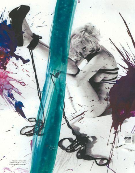 Lady Gaga в журнале Vogue Hommes Japan. Октябрь 2009