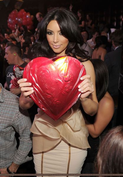 День святого Валентина Ким Кардашиан