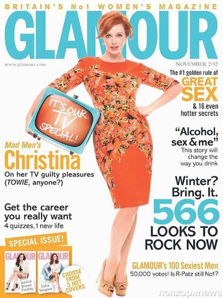 Кристина Хендрикс в журнале Glamour Великобритания. Ноябрь 2012