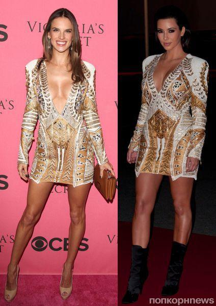 Fashion battle: Алессандра Амбросио и Ким Кардашиан