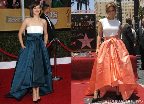 Fashion battle: Марион Котийяр и Дженнифер Лопес