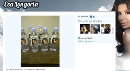 У Евы Лонгории собственные бутылки с водой