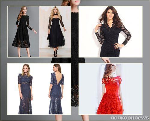 Фото: модные платья для встречи Нового года 2016