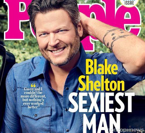 People назвал Блейка Шелтона самым сексуальным мужчиной 2017