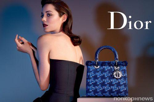 Марион Котийяр в рекламе Lady Dior Handbag 2013
