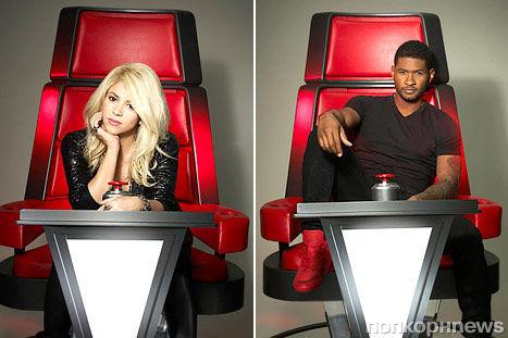 """Шакира и Ашер на промо-фото нового сезона шоу """"Голос"""""""