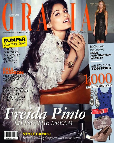 Фрида Пинто в журнале Grazia Индия. Октябрь 2011