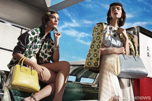 Рекламная кампания от Prada в стиле ретро