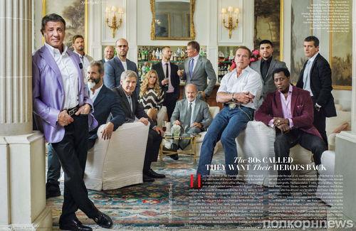 """Актеры фильма """"Неудержимые 3"""" в журнале Vanity Fair. Август 2014"""