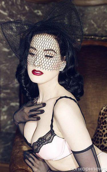 Дита фон Тиз в новой рекламной кампании нижнего белья Von Follies