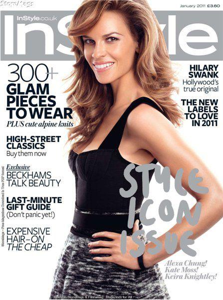 Хилари Суонк в журнале Instyle UK. Январь 2011