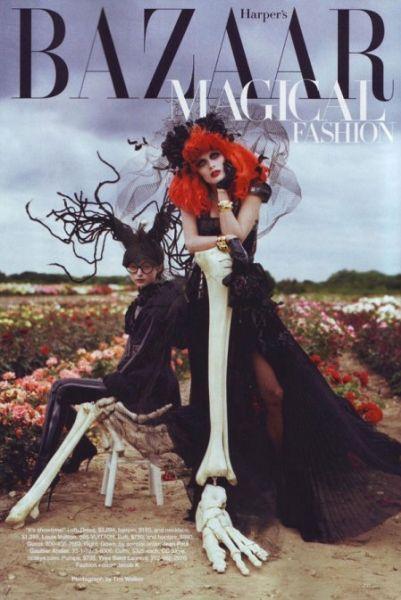 Harper's Bazaar в стиле Тима Бертона