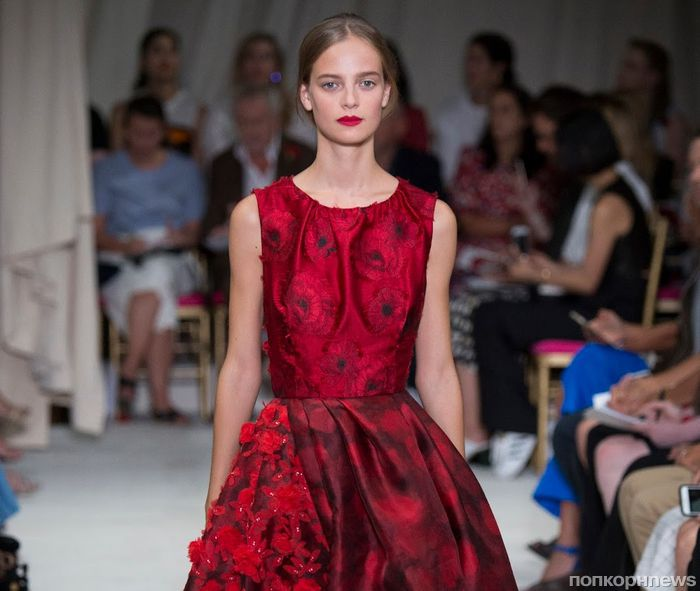 Модный показ новой коллекции Oscar de la Renta. Весна / лето 2016