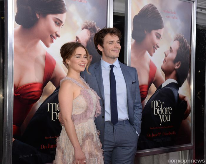 Эмилия Кларк и Сэм Клафлин на премьере фильма «До встречи с тобой» в Нью-Йорке
